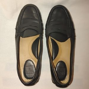 Frye Rebecca Penny Loafers Driving Moc Flats Blacl